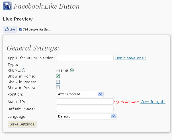 facebook like button image. Facebook Like WordPress