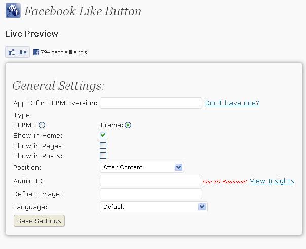 facebook like button image. Facebook Like WordPress