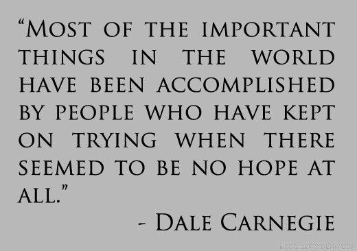 Dale Carnegie Quote On Hope