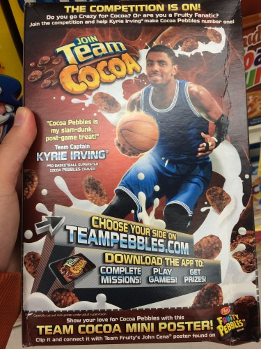 Kyrie Irving cereal
