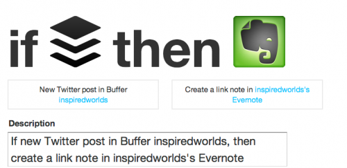 IFTTT buffer shares to evernote