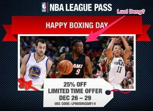 Luol Deng boxing day promotion