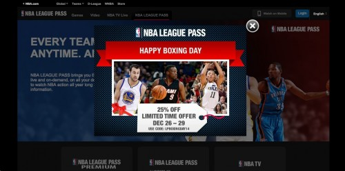 NBA boxing day ad luol deng