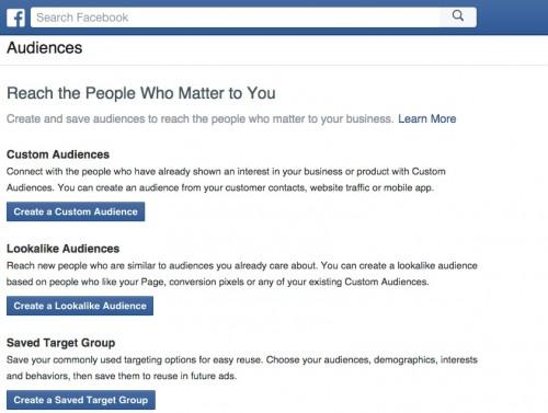 create a custom audience vs lookalike group