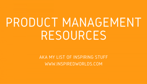 product mangement resources